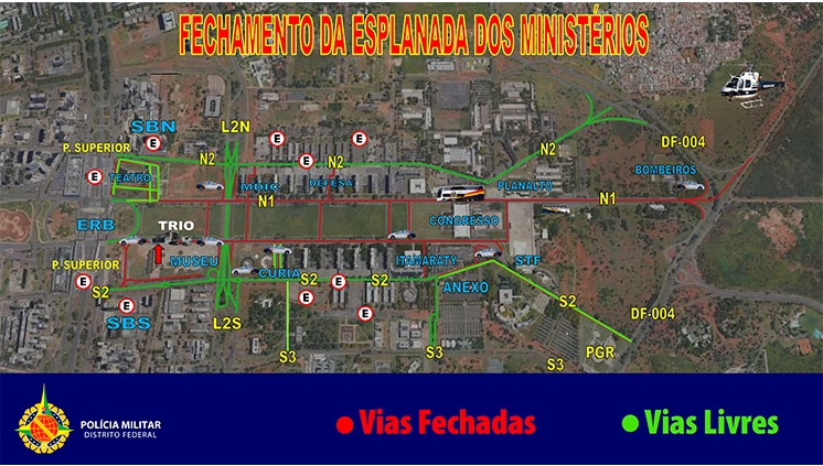 PMDF divulga planejamento de segurança para manifestação deste sábado