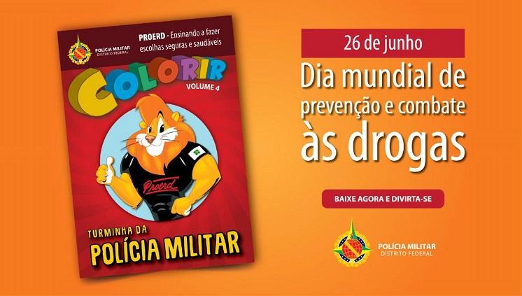 PMDF lança revista infantil para colorir voltada à prevenção e combate às drogas