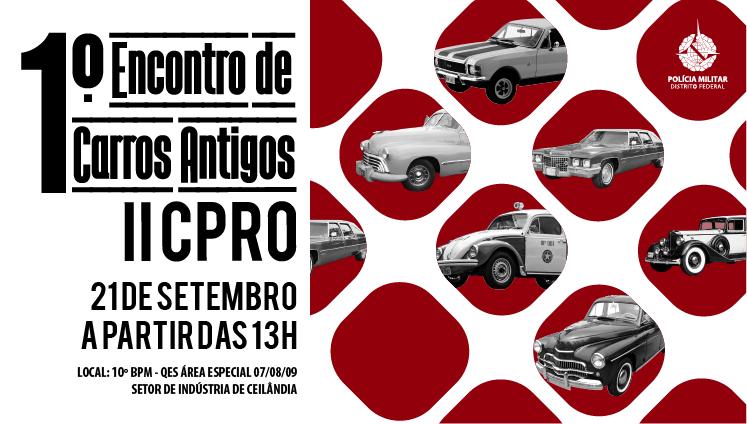 1º Encontro de carros antigos do II CPRO