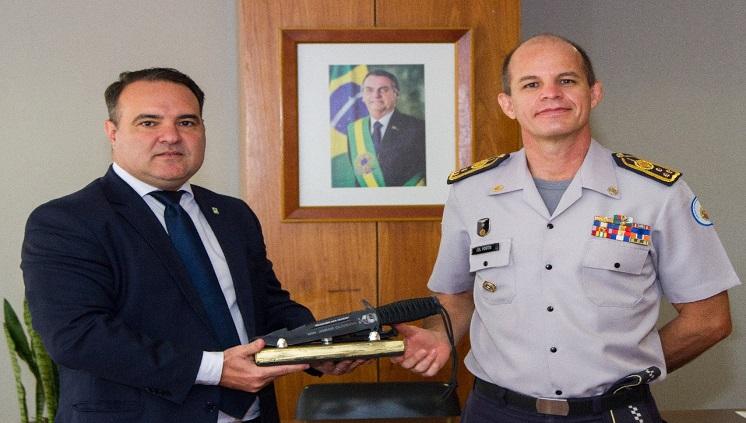 Comandante-geral da PMDF faz visita ao Ministro-chefe da Secretaria-Geral da Presidência da República