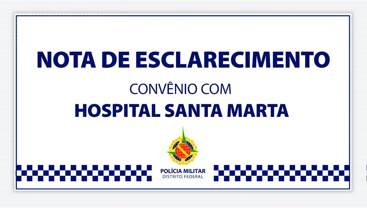Nota de esclarecimento sobre o convênio com o Hospital Santa Marta